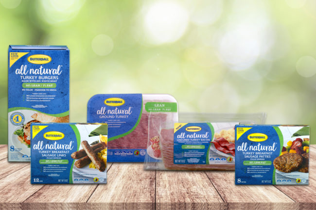 Butterball all natural turkey line