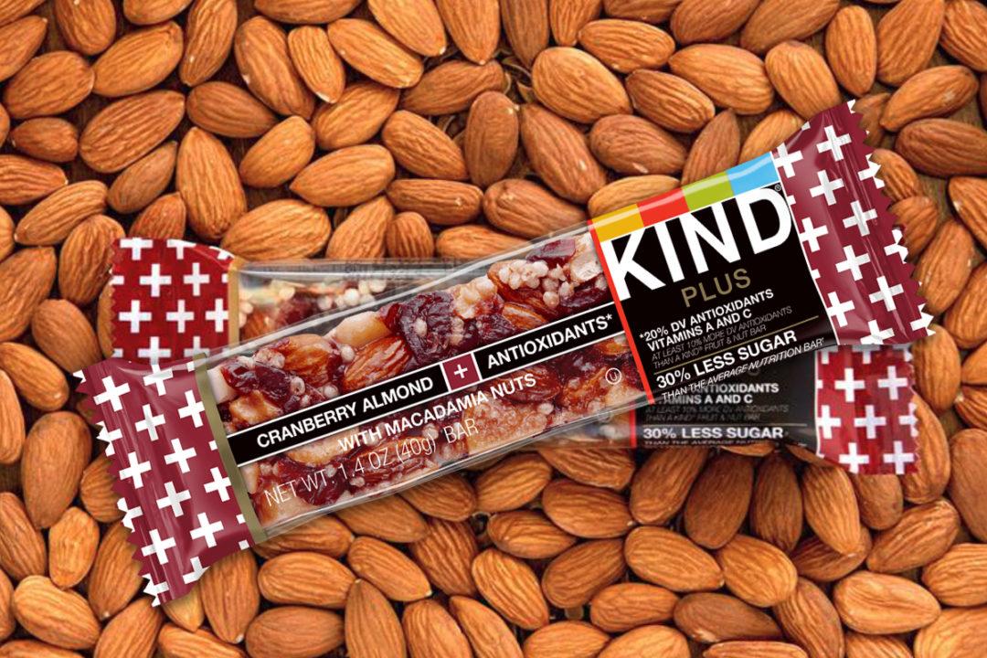 Kind Plus Cranberry Almond + Antioxidants With Macadamia Nuts bars