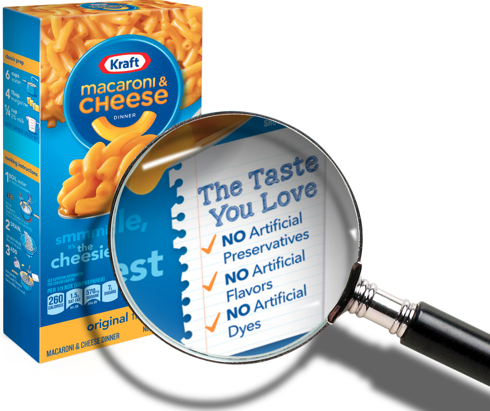Kraft macaroni and cheese no artificial ingredients