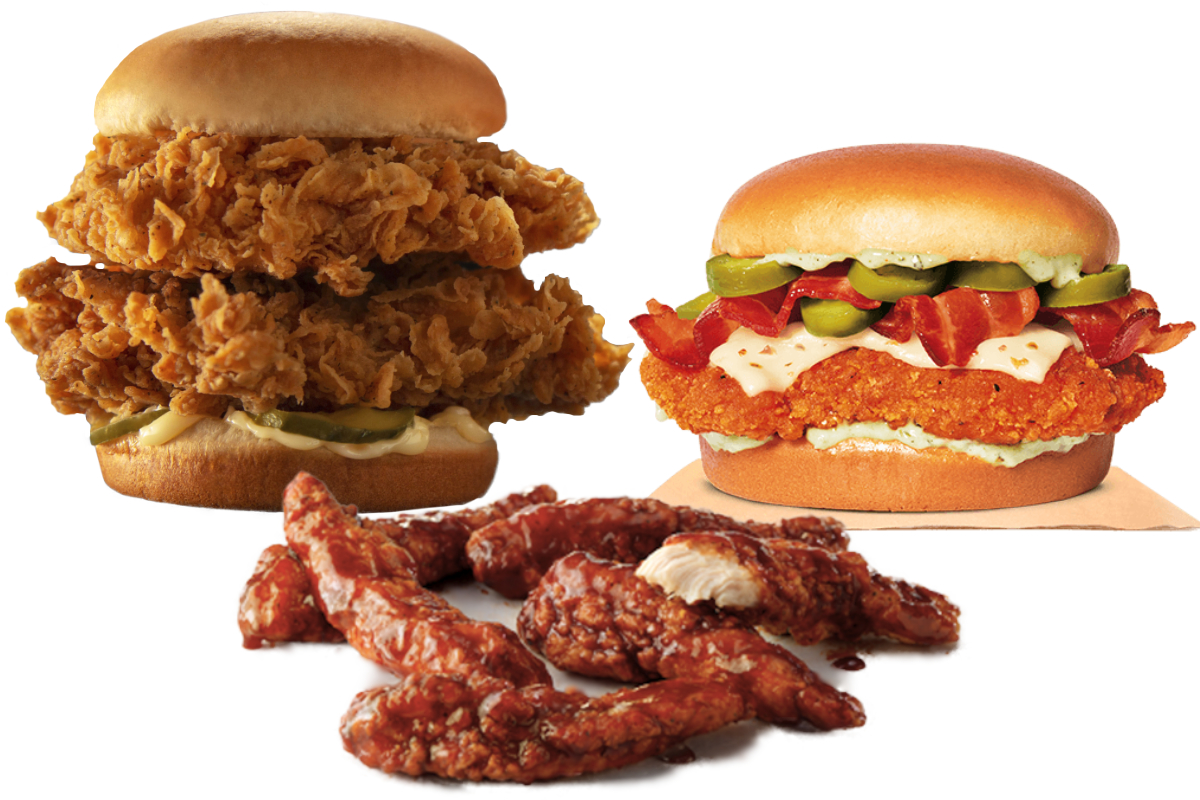 New chicken menu items
