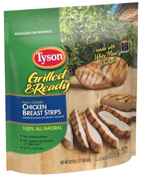Tyson Foods grilled chicken strips