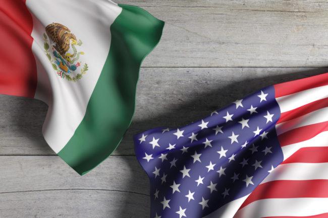 U.S. and Mexico flag
