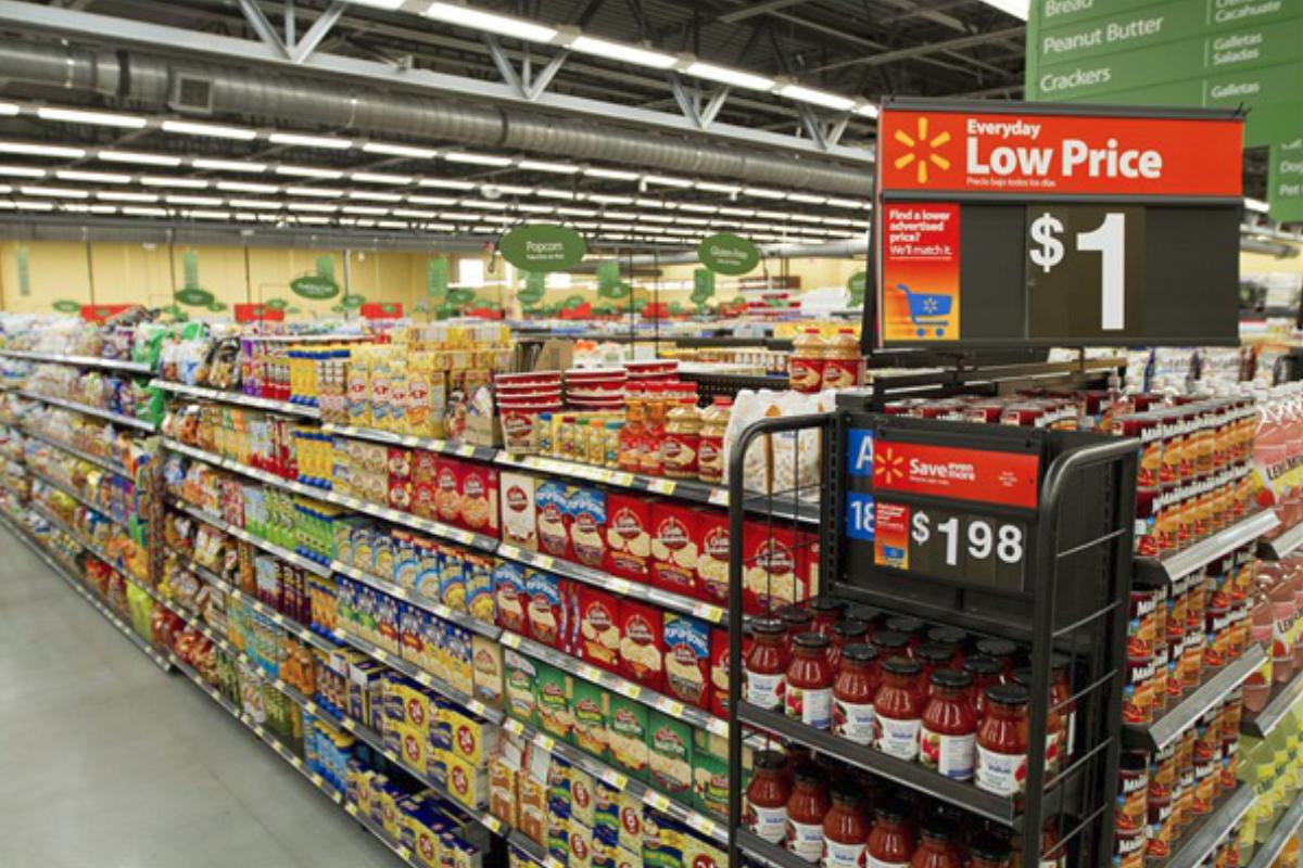 Walmart near supermarket