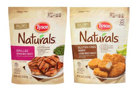 Tyson Foods Naturals chicken products