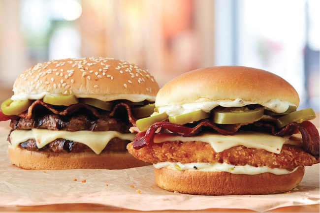 Burger King spicy jalapeno sandwiches