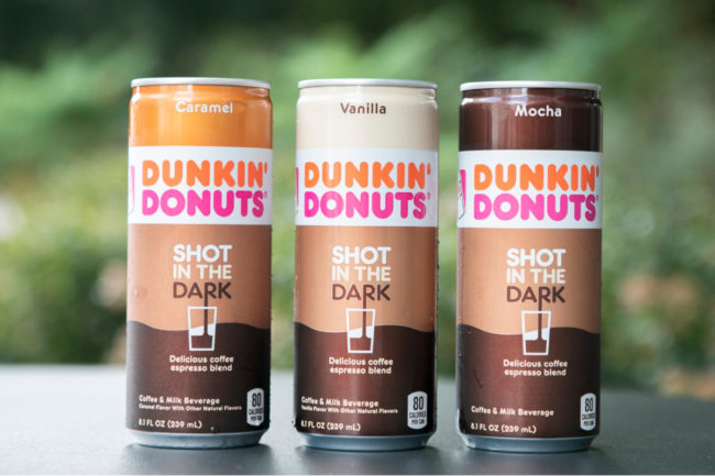 Dunkin' Donuts Shot in the Dark canned coffee espresso blend