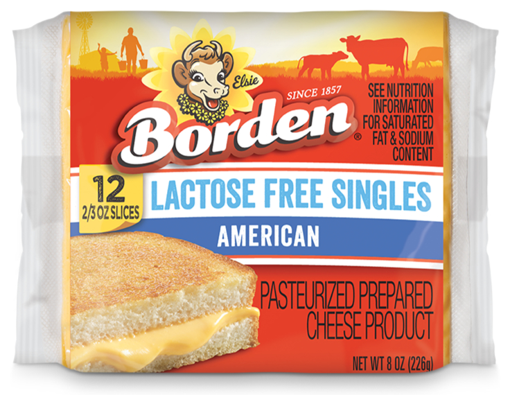 Borden lactose-free cheese