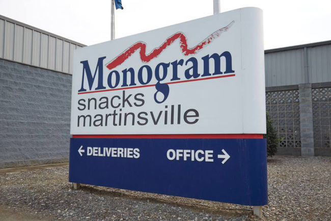 Monogram Snacks facility in Martinsville, Va.