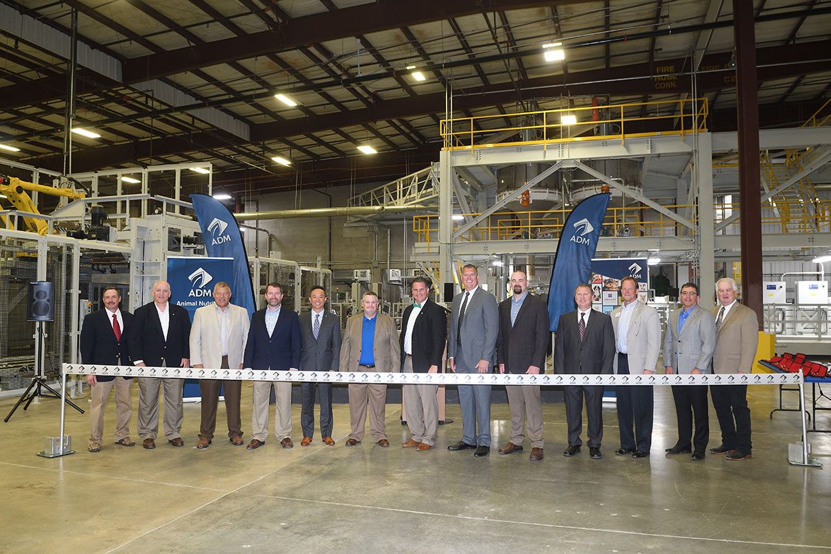 ADM ribbon cutting premix facility