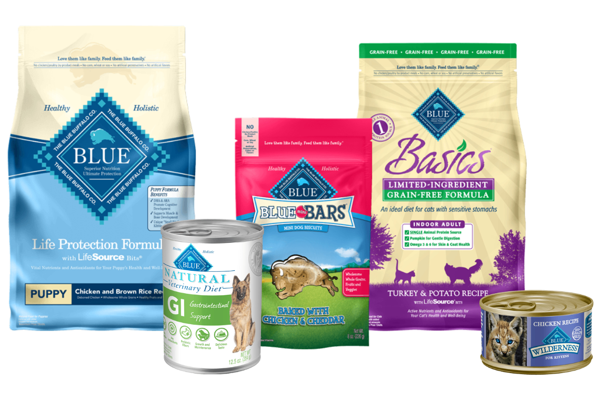 Blue Buffalo pet food products