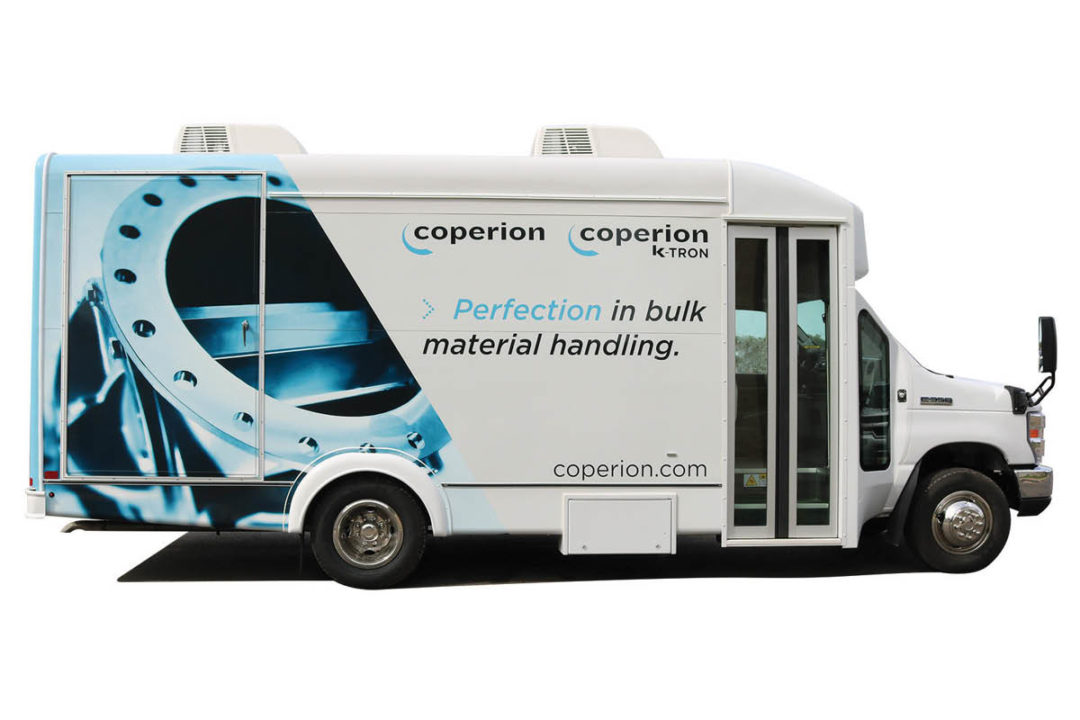 Coperion's Traveling Equipment Display (TED)