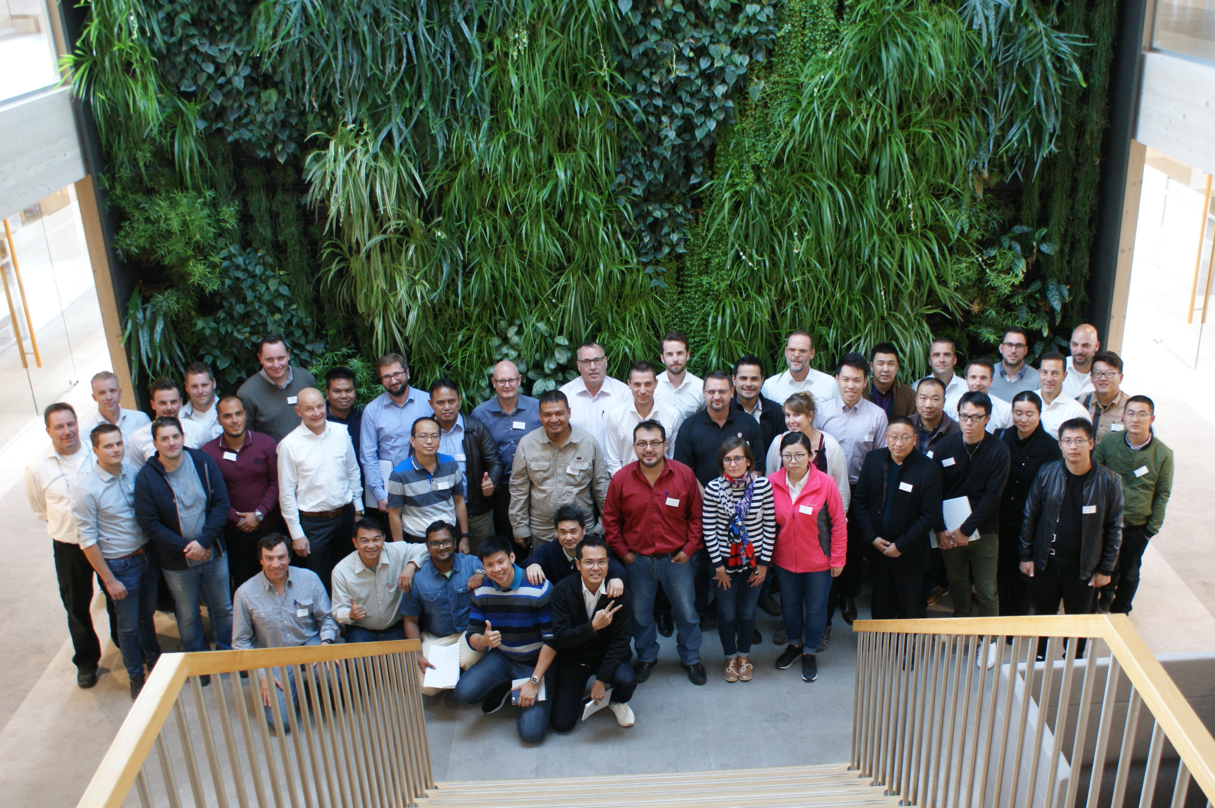 Participants at Geelen Counterflow training in Haelen, the Netherlands
