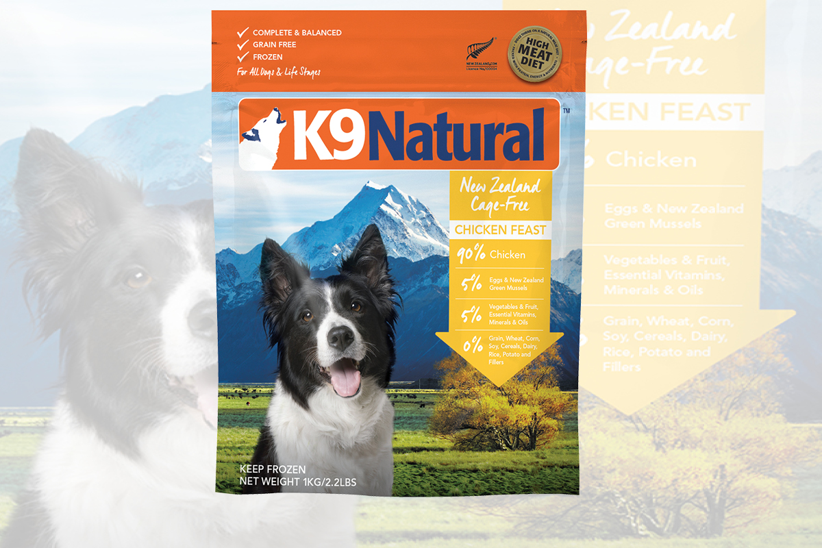 K9 Naturals Frozen Chicken Feast package