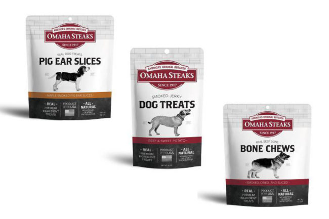 Omaha Steaks dog treat packages