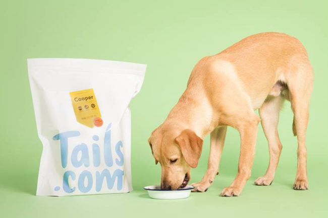 Tails pet food package with lab