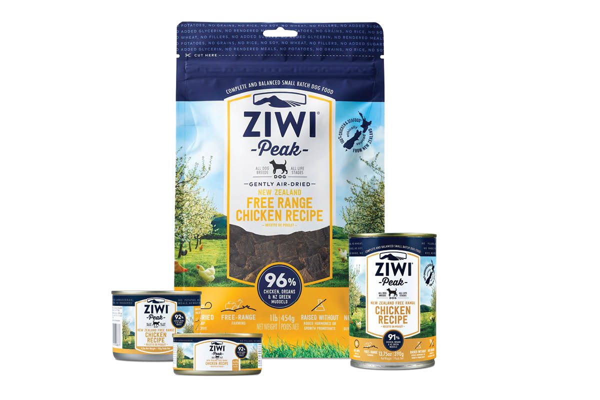 Ziwi Chicken dry and canned pet food