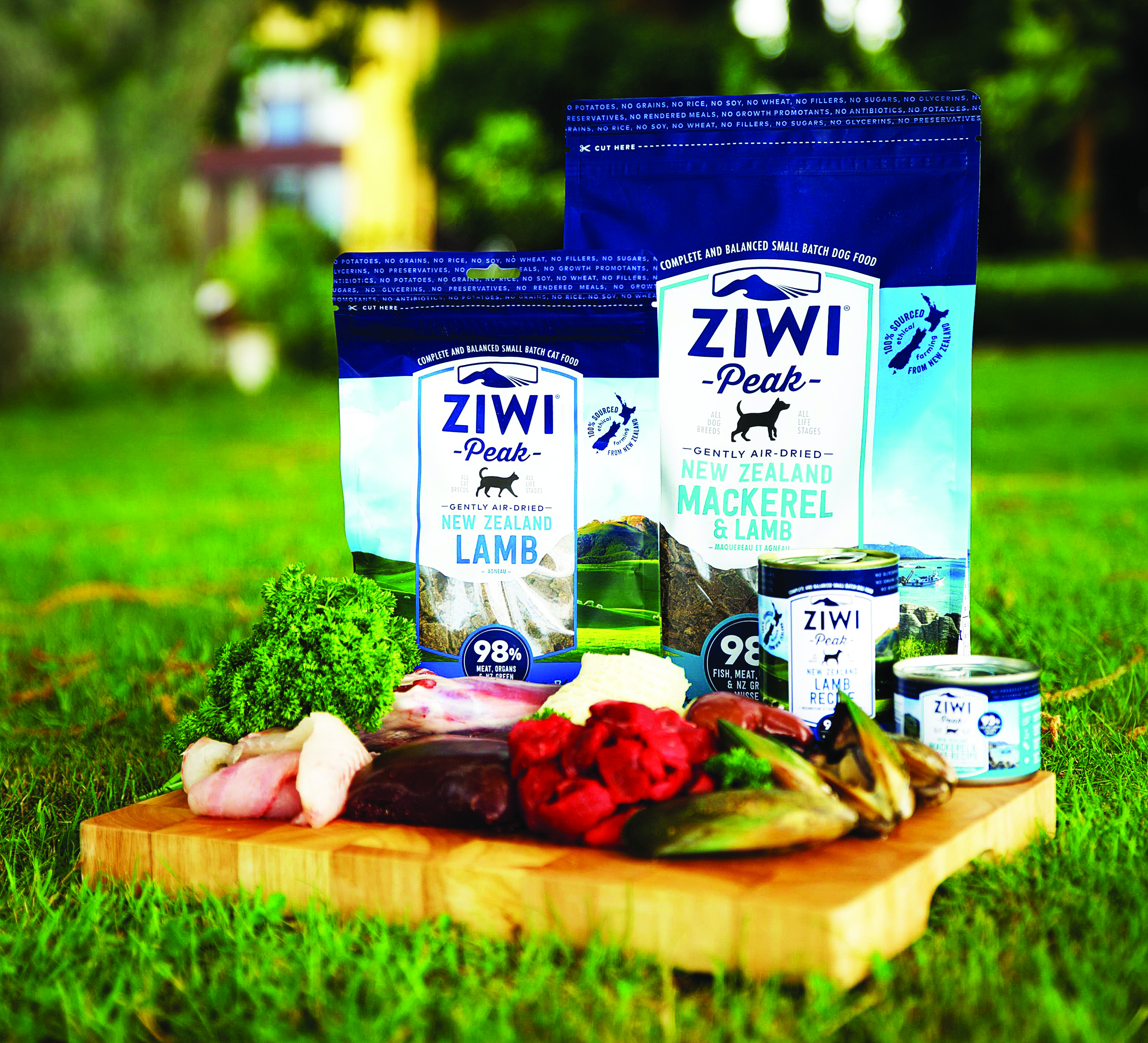 Ziwi Peak cat and dog food products