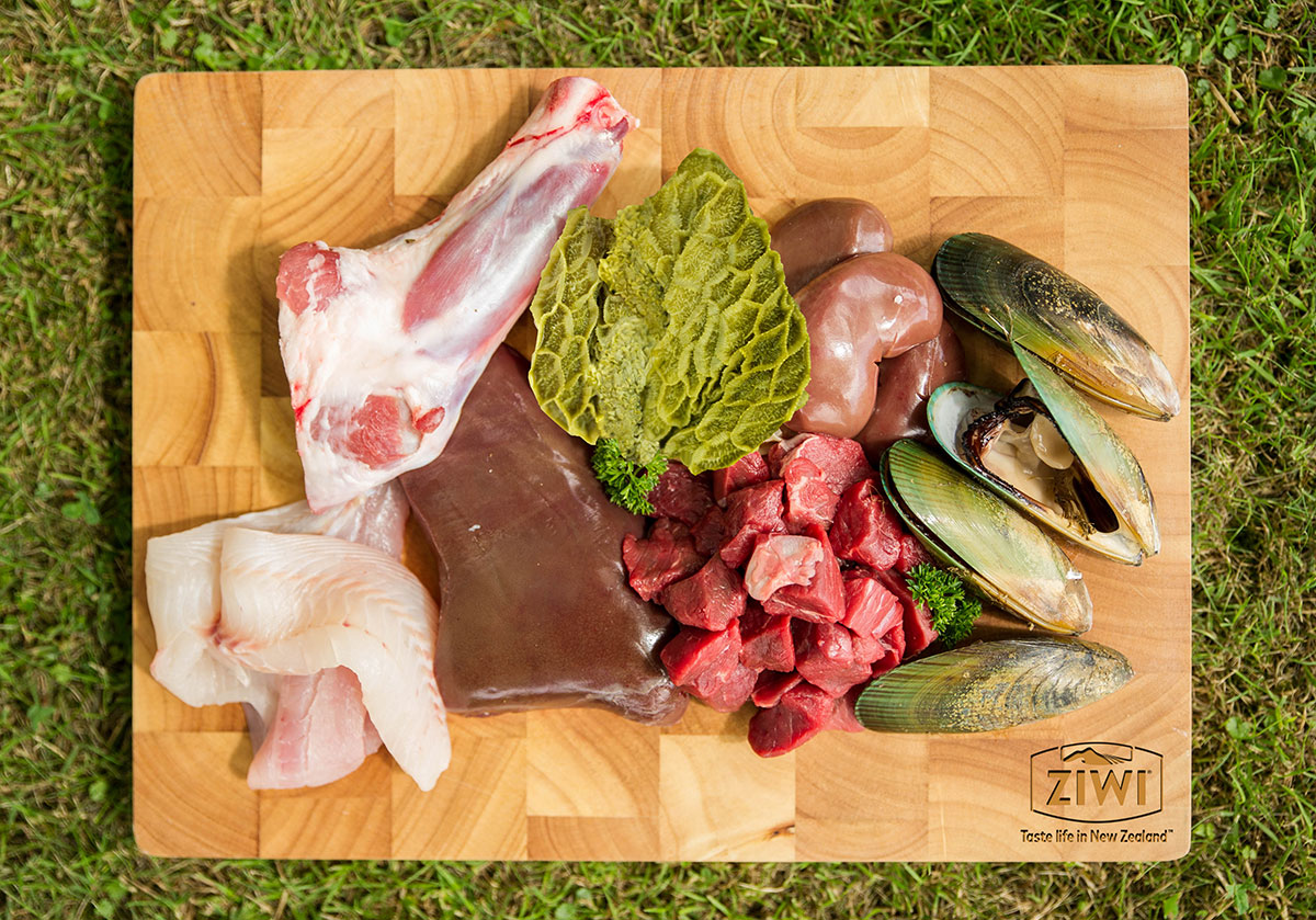Ziwi raw organ meat and green mussels