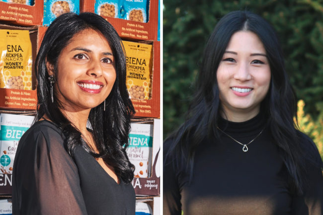 Poorvi Patodia and Ashton Yoon, Biena Snacks and Antithesis Foods
