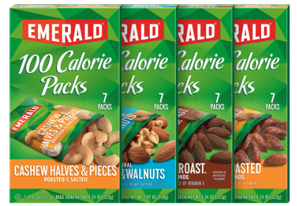 100 Calorie packs of Emerald Nuts