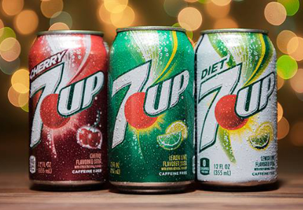 7-Up cans, Dr Pepper Snapple