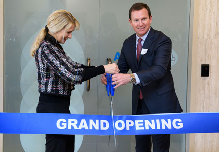 Anne Mette Olesen, chief marketing officer, AAK AB, Malmö, Sweden, and Terry Thomas, president, AAK USA, Inc., Edison, N.J., officially open the company's first U.S. AAKtion Lab innovation center