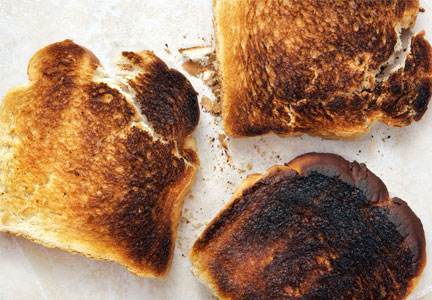 Burnt toast, acrylamide