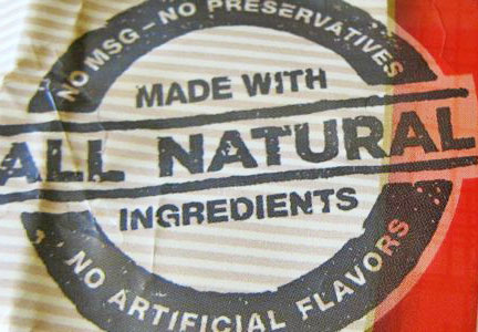 All-Natural food label, clean label