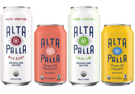 Alta Palla sparkling waters and juices, Hiball Energy