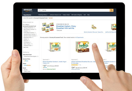 Mondelez belVita biscuits on Amazon