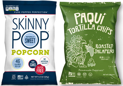 Skinny Pop popcorn and Paqui Tortilla Chips, Amplify Snack Brands