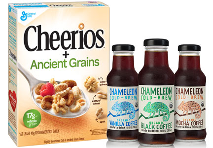 Ancient grain cereal and cold brew coffee