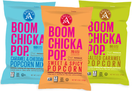Angie's Boom Chicka Pop flavors, non-G.M.O.