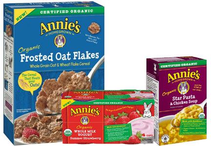 Annie's organic products - cereal, yogurt, soup - General Mills