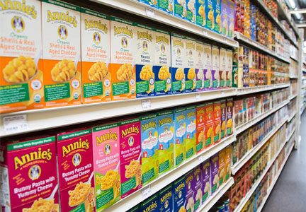 Annie's products on shelves, General Mills