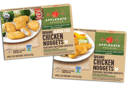 Applegate organic chicken nuggets, Hormel