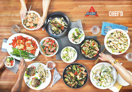 Atkins powered by Chef'd meal kits