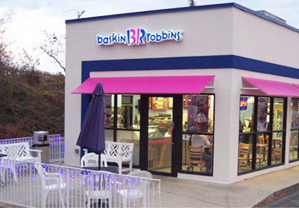 Baskin-Robbins ice cream shop
