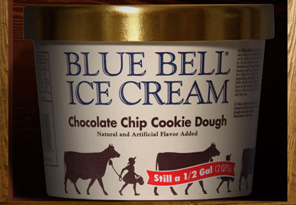 Blue Bell Chocolate Chip Cookie Dough Ice Cream