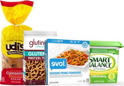 Boulder Brands products, Udi's, glutino, evol, Smart Balance