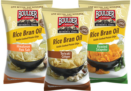 Inventure Foods Boulder Canyon Rice Bran Oil kettle chips