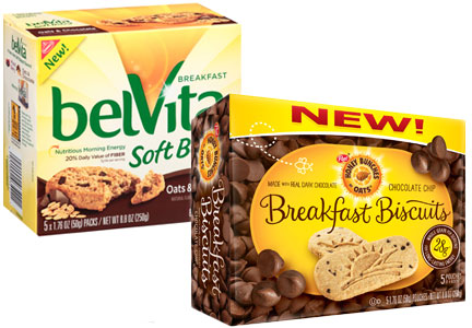BelVita and Honey Bunches of Oats breakfast biscuits