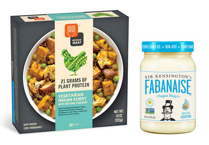 Beyond Meat meal and Sir Kensington's fabanaise