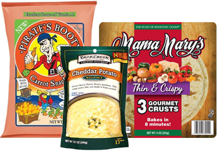B&G Foods brands - Pirate's Booty, Bear Creek Soup, Mama Mary's