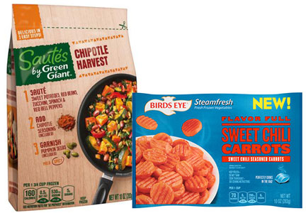 B&G Foods brands - Bird's Eye vegetables, Green Giant