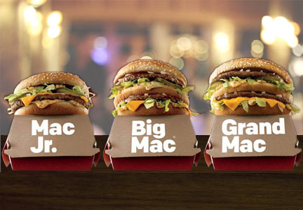 Mac Jr., Big Mac, Grand Mac, McDonald's