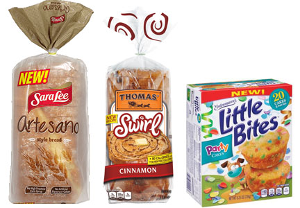 Grupo Bimbo products - Sara Lee Artesano bread, Thomas' Swirl Bread, Entenmann's Little Bites