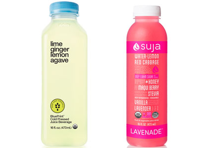 Blueprint and Suja cold-pressed juices