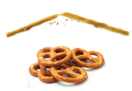 Breaking pretzels