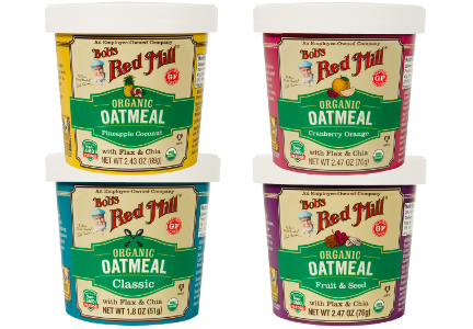 Bob's Red Mill organic oatmeal cups